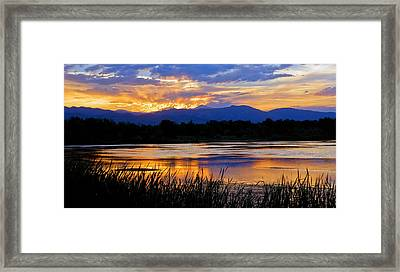 Walden Ponds Sunset 3 Framed Print