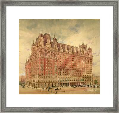 Waldorf Astoria Hotel Framed Print by Hughson Frederick Hawley