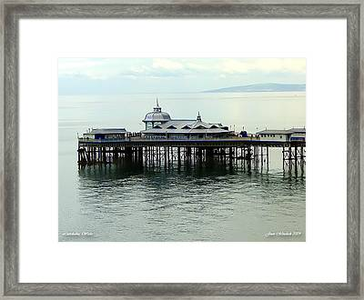 Framed Print featuring the photograph Wales Boardwalk by Joan  Minchak