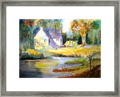 Wales Country House Framed Print by Larry Hamilton