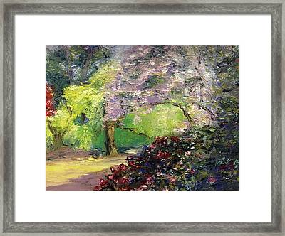 Wales Garden Framed Print