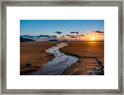 Wales Gower Coast Framed Print
