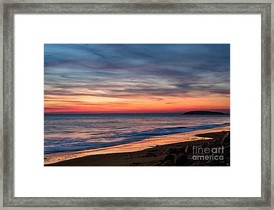 Wales Gower Coast Dusk Framed Print
