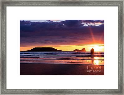 Wales Gower Coast Helvetia Framed Print