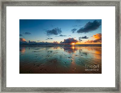 Wales Gower Coast Summer  Framed Print