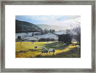 Framed Print featuring the painting Wales. by Harry Robertson