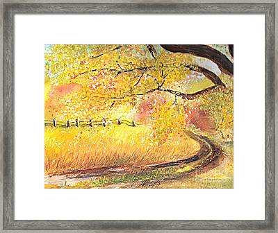 Walk About Framed Print by Vivian  Mosley
