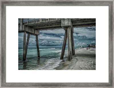 Walk Along The Seashore Framed Print