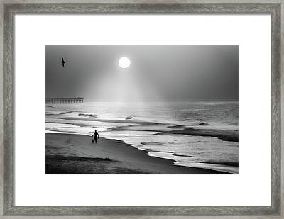 Framed Print featuring the photograph Walk Beneath The Moon by Karen Wiles