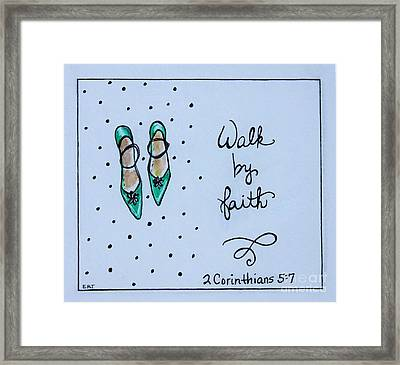Walk By Faith Framed Print by Elizabeth Robinette Tyndall