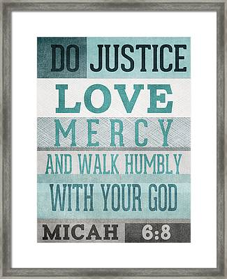 Walk Humbly- Micah  Framed Print