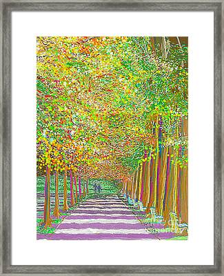 Framed Print featuring the painting Walk In Park Cathedral by Hidden Mountain