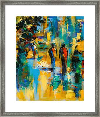 Walk In The City Framed Print