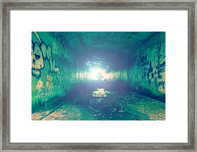 Framed Print featuring the photograph Walk In The Light by Joel Witmeyer
