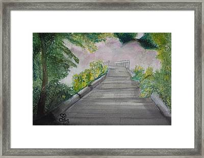 Walk In The Mist Framed Print