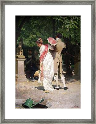 Walk In The Park Framed Print by MotionAge Designs