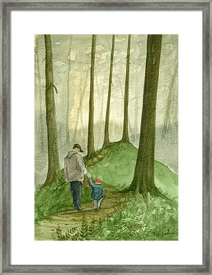 Walk In The Woods Framed Print by Sean Seal