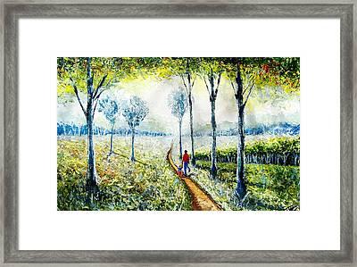 Walk Into The World Framed Print