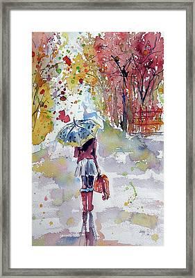 Walk Framed Print by Kovacs Anna Brigitta