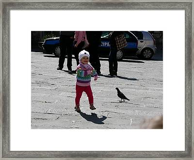 Walk Like A Pigeon Framed Print by Thor Sigstedt