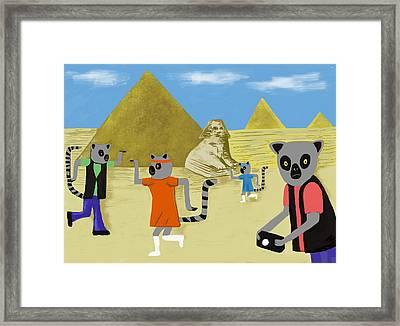 Walk Like An Egyptian Framed Print