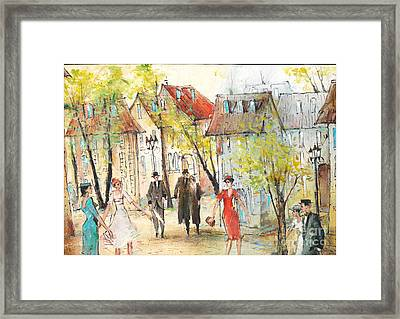 Walk Framed Print by Oleg Poberezhnyi