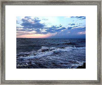 Walk On The Beach At Sunset Framed Print by MaryLee Parker
