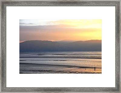 Walk On The Beach Framed Print by Harry Robertson