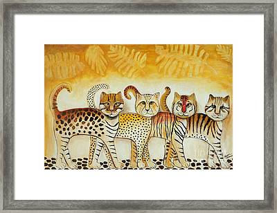 Walk On The Wild Side Framed Print