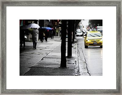 Walk Or Cab Framed Print by Empty Wall