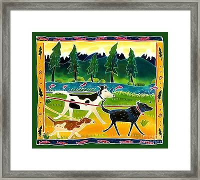 Walk The Dogs Framed Print by Harriet Peck Taylor