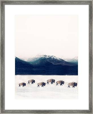 Framed Print featuring the painting Walk The Line by Bri B
