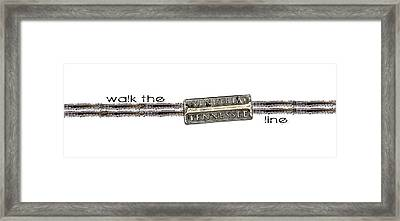 Walk The Line Framed Print by Heather Applegate