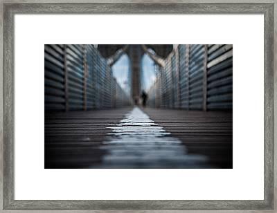 Walk The Line Framed Print