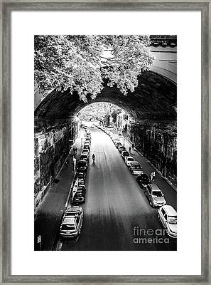 Framed Print featuring the photograph Walk The Tunnel by Perry Webster