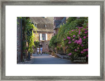 Walk Through Collonges-la-rouge Framed Print by Brian Jannsen