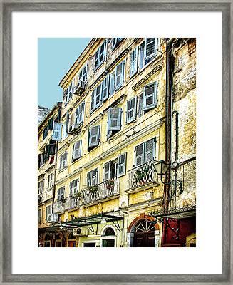 Walk Through Corfu Framed Print by Julie Palencia
