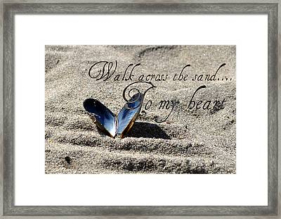Framed Print featuring the photograph Walk To My Heart by Amanda Eberly-Kudamik
