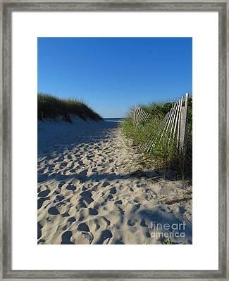 Walk To The Beach Framed Print