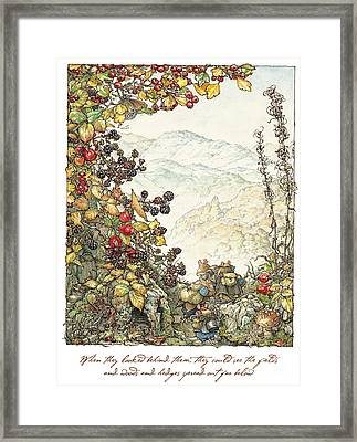 Walk To The High Hills Framed Print by Brambly Hedge