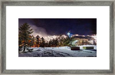 Walk To The Ski Hills Framed Print
