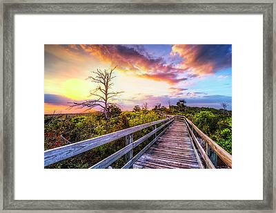 Walk Up Into Sunset Framed Print