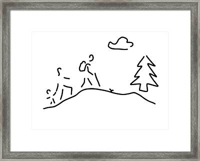 Walk Walking Wandering Framed Print by Lineamentum
