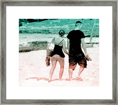 Walk With Me Framed Print by Barbara  White