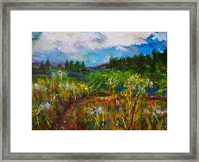 Framed Print featuring the painting Walk With Me by Claire Bull