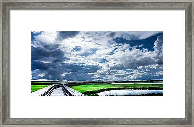 Walk With Me In The Sky Framed Print by Karen Wiles