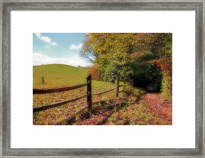 Walk With Me Framed Print by Kristin Elmquist