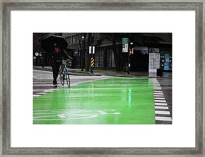 Framed Print featuring the photograph Walk With Wheels  by Empty Wall