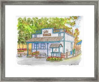 Walker Burger In Walker, California Framed Print