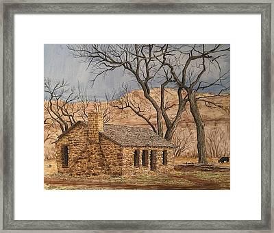 Walker Homestead In Escalante Canyon Framed Print